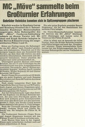 Artikel aus den Cuxhavener Nachrichten vom 21.07.1990