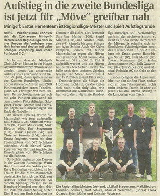 Artikel aus den Cuxhavener Nachrichten aus Mai 2008