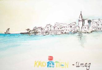 Skizze für Joschi, Umag Kroatien