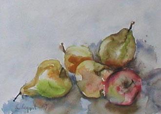Obst - Birnen und Äpfel