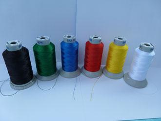 Garnfarben : schwarz, grün, royalblau, rot, gelb und weiß