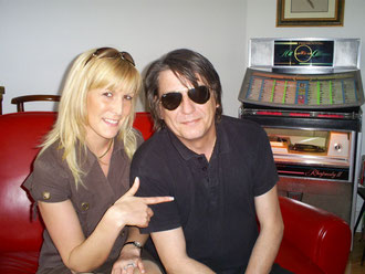 Avec Jack Lebon (sosie de Jacques Dutronc) 2009