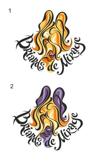 Эскизы логотипа для питомника Briards de mirage. США.