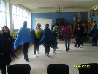 El grupo de danza en sus prácticas diarias.