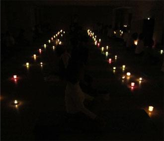 2010.12.22 キャンドルヨーガin小茂根スタジオ