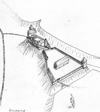 Реконструкция замка Кройцбург авт. А.П. Бахтин