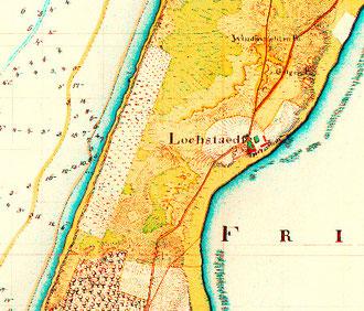 Карта 19 в. в самой узкой части косы был пролив