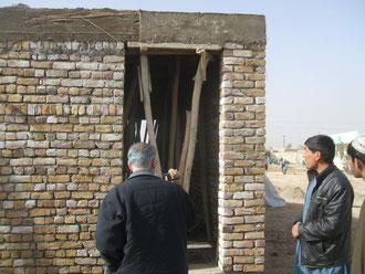 トイレ建設現場を見学