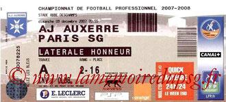 Ticket  Auxerre-PSG  2007-08