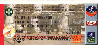 Ticket  Saint-Etienne-PSG  2004-05