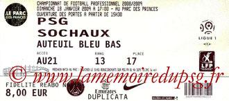 2009-01-18  PSG-Sochaux (21ème L1)