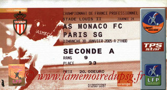 Ticket  Monaco-PSG  2004-05