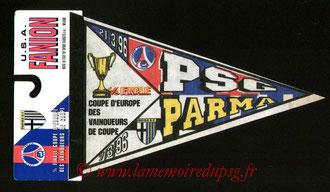 Fanion PSG-Parme AC  1995-96