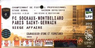 Ticket  Sochaux-PSG  2012-13