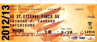 Ticket  Saint Etienne-PSG  2012-13