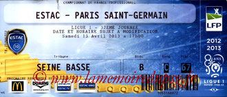 Ticket  Troyes-PSG  2012-13