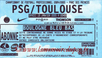 Ticket  PSG-Toulouse  2004-05