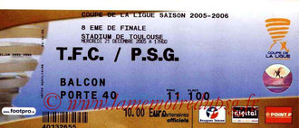 Ticket  Toulouse-PSG  2005-06