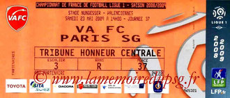 Ticket  Valenciennes-PSG  2008-09