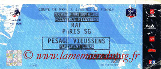Ticket  Rodez-PSG  2008-09