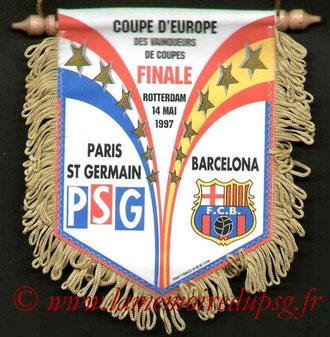 Fanion PSG-FC Barcelone  1996-97