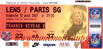 Ticket  Lens-PSG  2007-08