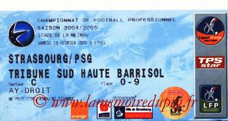 Ticket  Strasbourg-PSG  2004-05