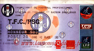 Ticket  Toulouse-PSG  2004-05