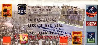 Ticket  Bastia-PSG  2004-05