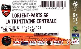 Ticket  Lorient-PSG  2011-12
