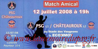Ticket  PSG-Châteauroux  2008-09