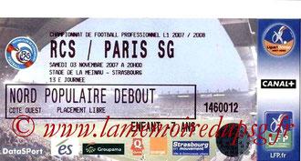 Ticket  Strasbourg-PSG  2007-08