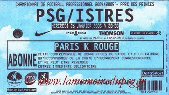 Ticket  PSG-Istres  2004-05