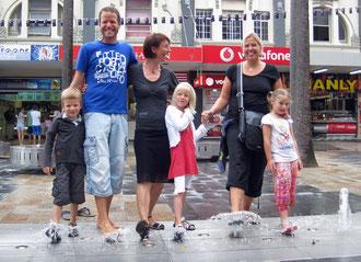 Unsere netten Schweizer Nico, Stefan, Claudia und Jara