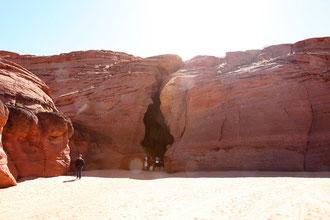Unscheinbarer Eingang in den Canyon