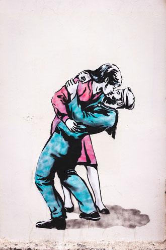 Great stencil street art work by thepinkbear.rebel street artist - Fairley Street, Glasgow, United Kingdom - Photo by Crawford Jolly