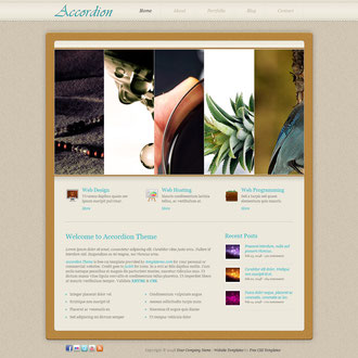 theme accordion jimdo plantillas