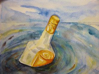 Flaschenpost nach Vorlage 2012
