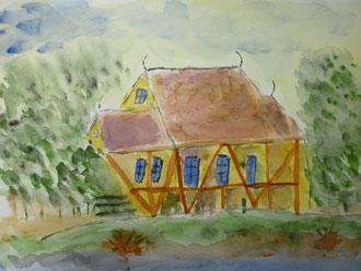 Haus im Wald von G. Hofmann- Joost