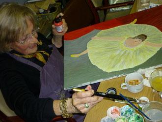 Die Tänzerin entsteht u. ist einem Bild des Malers Degas nachempfunden !