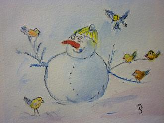 """Dez.2011 """" lustiger Schneemann"""" nach Vorlage"""