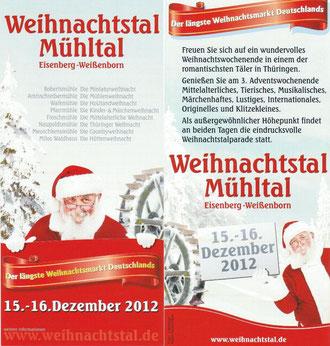 Weihnachtstal - Mühltal 15. bis 16.12.2012
