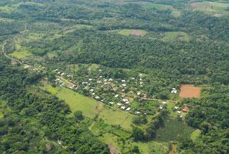 vue aérienne de la finca Sonador