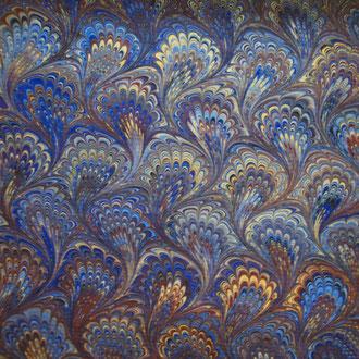 Papel de cola de pavo Real especial para guardas de encuadernación y decoración y restauración
