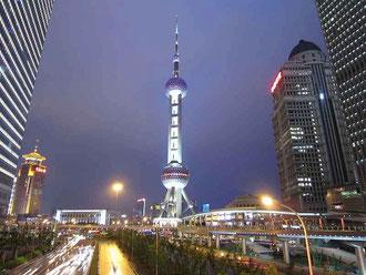 浦東地区 東方明珠塔