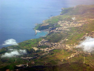 Arial View of Malta