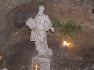 St.Paul's Grotto,where the Apostle lived for three months.