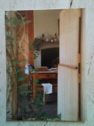 Autumn 1980s Stable door into the kitchen Pillar House