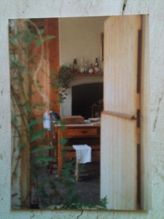 Autumn 1980s Stable door into the kitchen Pillar House