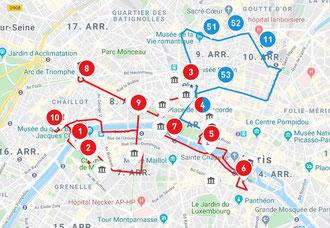 Hop on Hop off Paris Big Bus Route